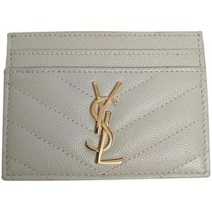 Saint Laurent Beige Card Holder